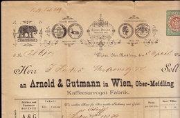AUSTRIA WIEN - ARNOLD & GUTMANN - INVOICE RECHNUNG FAKTURA 1891 (see Sales Conditions) - Austria