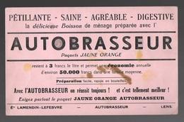 Buvard Autobrasseur Paquets Jaune Orange - Vloeipapier