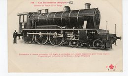 LES LOCOMOTIVES  (Belgique) Locomotive Pour Trains Express Construite Par La S. De La Meuse à Liège  (Belgique). - Treni