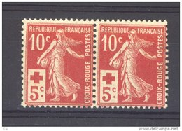 France  :  Yv  147a  **     Paire - France