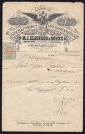 AUSTRIA WIEN - M. J. ELSINGER - INVOICE RECHNUNG FAKTURA 1895 (see Sales Conditions) - Autriche