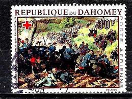 DAHOMEY Aer81° 30f Croix-rouge Dahoméenne Tableaux Montagne De Montebello Philipoteaux (10% De La Cote + 015) - Benin - Dahomey (1960-...)