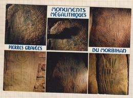 8AK4125 PIERRES GRAVEES DES MONUMENTS MEGALITHIQUES DU MORBIHAN 2 SCANS - Locmariaquer