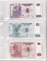 CONGO.-3 MOOIE BILJETTEN 200FR+100FR+50FR - République Démocratique Du Congo & Zaïre