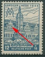 SBZ West-Sachsen 1946 Leipziger Messe WZ Y Plattenfehler 163 AY V Postfrisch - Soviet Zone