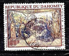 DAHOMEY Aer93° 30f Peintures Religieuses De Foujita Nativité (10% De La Cote + 015) - Benin - Dahomey (1960-...)