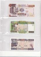 GUINEE 3 MOOIE BILJETTEN 1000FR+500FR+100FR - Guinée