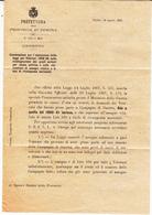 Verona, Per Zevio. Norme Per La Concessione Ai Veterani Di Guerra Del 1860 - 1861   Assegno Vitalizio. 1907 - Decreti & Leggi