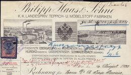 EBERGASSING HOHENEICH SOPRON HLINSKO - INVOICE RECHNUNG FAKTURA 1923 (see Sales Conditions) - Autriche