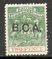 AFRIQUE CENTRALE BRITANNIQUE - (Protectorat Britannique) - 1891- N° 2 - 2 P. Olive Et Rouge - (Armoiries - Surch B.C.A.) - Grande-Bretagne (ex-colonies & Protectorats)