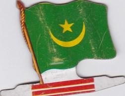 Figurine Publicitaire Biscuits L'Alsacienne Petit-Exquis - Drapeau - Mauritanie - Années 60/70 - Tôle - Africorama - Publicité