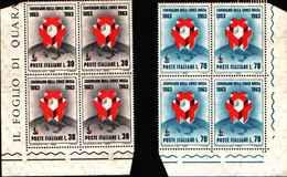74206) ITALIA-QUARTINA- Centenario Della Fondazione Della Croce Rossa - 8 Giugno 1963 -MNH**- - 1961-70:  Nuovi