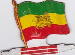 Figurine Publicitaire Biscuits L'Alsacienne Petit-Exquis - Drapeau - Ethiopie - Années 60/70 - Tôle - Africorama - Publicité