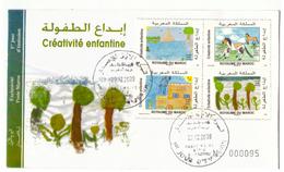 Maroc. 5  FDC. 2009 - Morocco (1956-...)