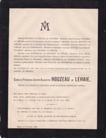 MONS Charles-François HOUEZAU De LEHAIE 1791-1885 Bibliophile Cercle Archéologique PRADIER De CASEMBROOT HALGAN - Obituary Notices