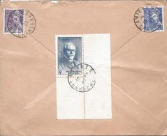 AMIENS CHARGEMENTS 10 12 1942 Lettre Recommandée Tarif 4.50F Timbres André Blondel Et Mercure 40c Et 10c - Poststempel (Briefe)