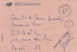 LSC 1987 -AMBULANTS - Cachet Convoyeur DUNKERQUE à PARIS 2° C & Griffe Idem (signée) - Postmark Collection (Covers)