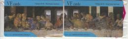 GREECE - The Last Supper, Painting/Leonardo Da Vinci, Puzzle Of 2 VF Promotion Prepaid Cards, Tirage 50, Mint - Greece