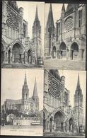 CP1016  Lot De 7 CPA De Chartres La Cathédrale - Rouen