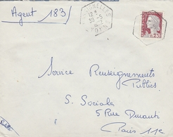 LSC 1962 - Cachet Hexagonal - CHASSIGNELLES (Yonne) - Poststempel (Briefe)