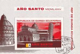Guinea Equatoriale 1975Anno Santo Foglietto 200 E.   Usato  Oggetto Simile - Equatorial Guinea