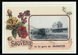 HAMOIR  .....  2 Cartes Souvenirs Gare ... Train  Creations Modernes Série Limitée - Hamoir