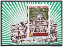 Guinea Equatoriale 1975-anno Santo-Foglietto 130 E.. Usato - Equatorial Guinea