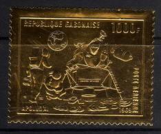Gabon PA  N° 92  XX L'homme Sur La Lune Sur Feuille D'or Sans Charnière, TB - Gabon (1960-...)