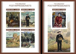 Sierra Leone 2018, Art, Post Impressionism, 4val In BF +BF IMPERFORATED - Sierra Leone (1961-...)