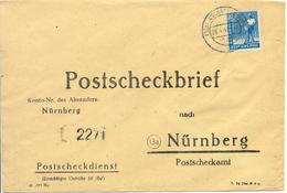 Lettre De Aschafenburg Vers Nürnberg 1948 - Briefe U. Dokumente