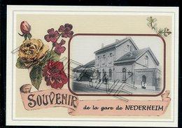 NEDERHEIM  .....  2 Cartes Souvenirs Gare ... Train  Creations Modernes Série Limitée - Tongeren