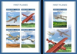 Sierra Leone 2018, Planes, 4val In BF +BF IMPERFORATED - Sierra Leone (1961-...)