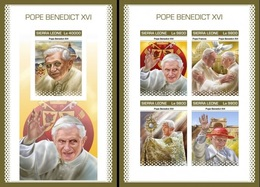 Sierra Leone 2018, Pope Benedict, 4val In BF +BF IMPERFORATED - Sierra Leone (1961-...)