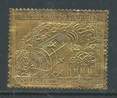 Dahomey P.A. N° 106 XX Vol Circumlunaire D'Apollo VIII, Sur Feuille D'or, Sans Charnière,  TB - Benin - Dahomey (1960-...)