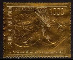 Haute Volta P.A. N° 68  XX  Apollo VIII Sur Feuille D'or Sans Charnière TB - Upper Volta (1958-1984)