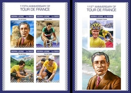 Sierra Leone 2018, Sport, Tour De France, 4val In BF +BF IMPERFORATED - Sierra Leone (1961-...)