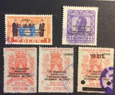 El Salvador Used 1963 1962 Surcharged, 1962 Airmail - Industrial Exhibition - 1954 And 1957 Overprinted - El Salvador