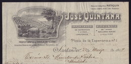 SPAIN - Cantabria - SANTANDER - JOSE QUINTANA -INVOICE RECHNUNG FAKTURA 1919 (see Sales Conditions) - Spain