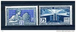 France  :  Yv  214-15  *       ,   N2 - Nuovi