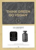 Carte Parfumée Avec Patch Perfume Card PORTO BELLO * COUVENT DES MINIMES * R/V - Perfume Cards