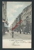 LIEGE. Carte Superbe Et Rare . Rue Feronstrée. Attelage, Commerces, Animation. N°8.  Voyagée En 1901. 2 Scans - Liege