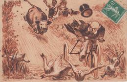 """CPA Publicitaire Potages Maggi - Illustrateur Nevil """"On A Raison De Crier Mort Aux Vaches"""" - Publicité"""