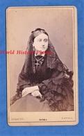 Photo Ancienne CDV Vers 1870 - ROMA / NAPOLI - Superbe Portrait Femme Italienne à Identifier - Raffaello Ferretti - Anciennes (Av. 1900)