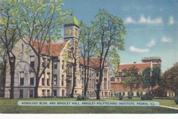 Illinois Peoria Horology Building & Bradley Hall Bradley Polytechnic Institute 1942 - Peoria