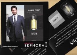 Carte Parfumée Double Perfume Card Avec Patch MAN FOR TODAY BOSS SEPHORA * 18 X 18 Cm - Perfume Cards