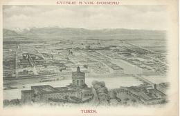 Italie L'ITALIE A VOL D'OISEAU TURIN Gravure  Précurseur TBE - Italy