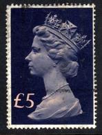 GB 1977 - 87 QE2 £5 Salmon & Blue Machin SG 1028 ( J1129 ) - 1952-.... (Elizabeth II)