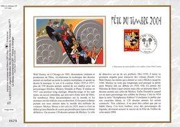 """"""" F.D.T. MICKEY / WALT DISNEY """" Sur Feuillet CEF N°té En SOIE De 2004 N° 1699s N° YT 3641 Parfait état FDC - Disney"""