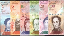 Venezuela 2, 5, 10, 20, 50, 100 UNC FdC 6x Pcs Set 2007 2015 - Venezuela