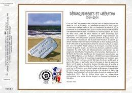 """"""" DEBARQUEMENTS ET LIBERATION """" Sur Feuillet CEF N°té En SOIE De 2004 N° 1718s N° YT 3675 Parfait état FDC - Guerre Mondiale (Seconde)"""
